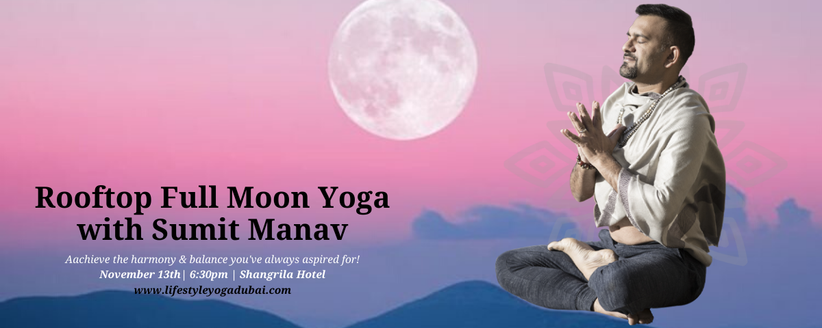 Rooftop Full Moon Yoga with Sumit Manav